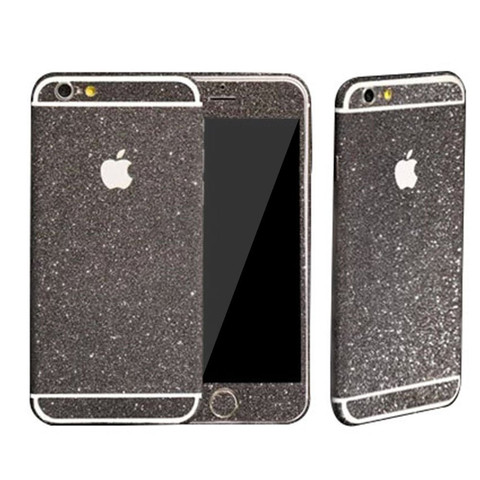 glitzer folie iphone 6 schwarz dr phone. Black Bedroom Furniture Sets. Home Design Ideas